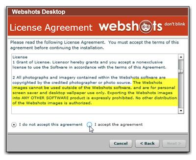 webshots wont update